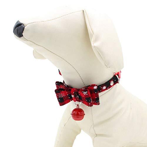Bebliss Juego de collar y correa para perro de doble capa ajustable
