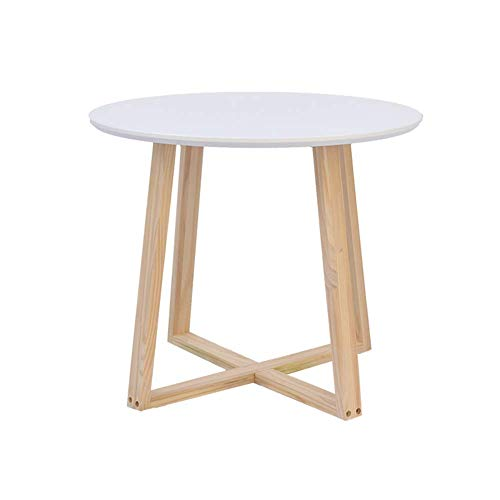 Équipement de vie Table basse Table d'appoint Table de chevet moderne Table basse d'appoint latérale ronde pour salon Chambre à coucher Balcon Famille et bureau 4 tailles 40x50cm (Taille: 40x50cm)