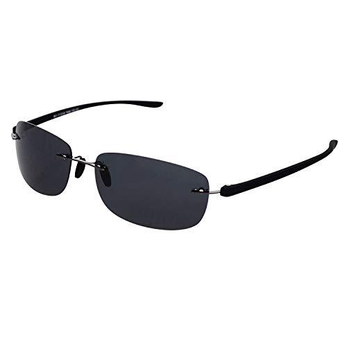 Rimless Bifocal Sunglasses for Men & Women - Lightweight Invisible Line Reader Sunglasses - 100% UV Ray Sun Protection Stylish Reading Glasses (+350)
