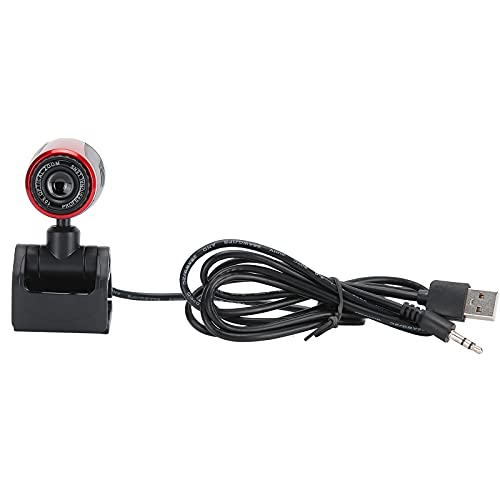 HD Rotating High Resolution Clear Webcam Computer Camera Microphone Camera USB Webcam Streaming Webcam for Video Conference Calling Studying Personal Computer Laptop Use