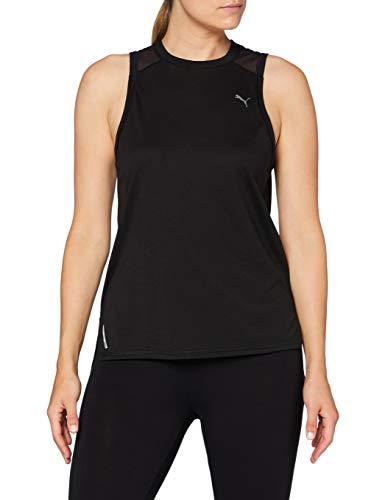 PUMA Train Mesh Panel Tank Camiseta, Mujer, Black, XL