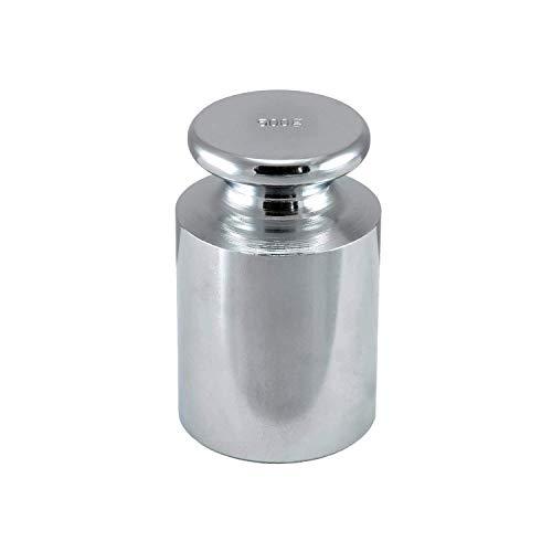 Maß Gewicht für Präzise Kalibration mit Waagen - Nickel Überzogen Stahl für Überprüfen die Genauigkeit beide Tasche Digitale, Silber, 500g