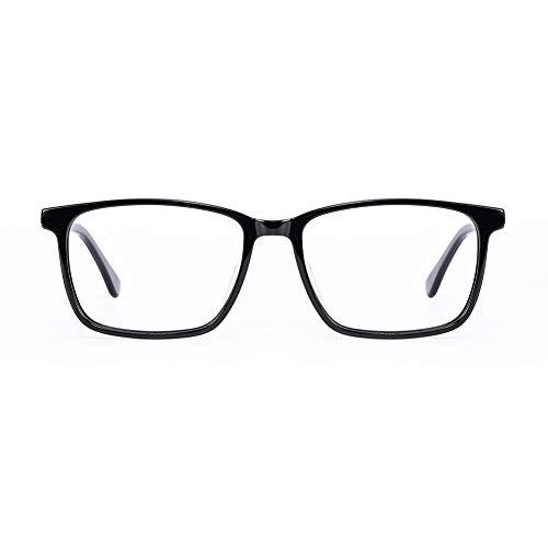 Gafas antiluz azul para hombre y mujer, protección de pantalla azul UV400, antifatiga, ocular, antirreflectante, gafas de juego, para ordenador de PC/teléfono/tableta/videojuego (Negro)
