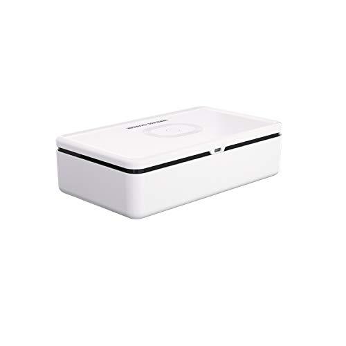 UV Esterilizador para Tel/éfono M/óvil Port/átil Ozono Ultravioleta Caja De Desinfecci/ón con Aromaterapia y Carga Inalambrica Funcional Rong-