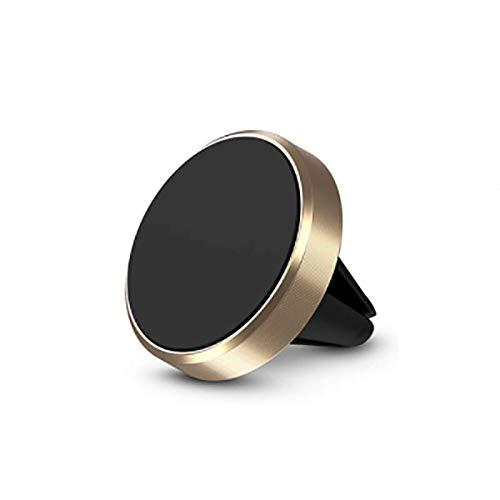 Tenedor de teléfono magnético Redondo en Coche Potente imán de adsorción Soporte para teléfono para teléfono para iPhone 12 Pro MAX Samsung (Color : Gold)