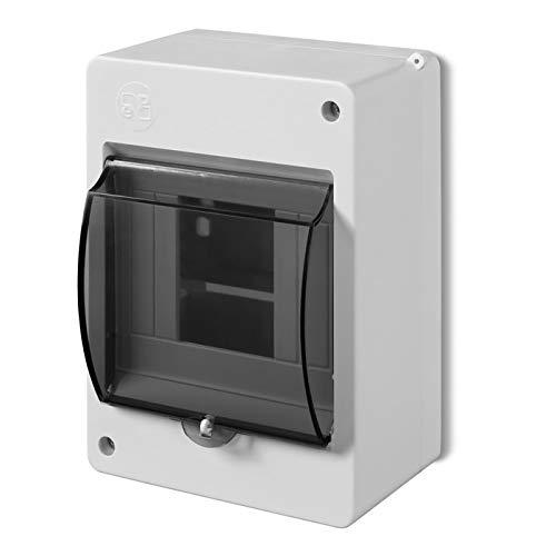 Kleinverteiler IP30 Aufputz Sicherungskasten 1-Reihig für 4 Module Feuchtraum Verteilerkasten Unterverteilung