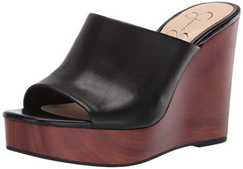 Jessica Simpson womens Shantell slides sandals, Black, 6.5 US
