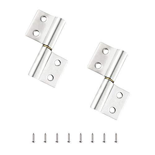 2 Piezas 2 Pulgadas Bisagras Puertas Conectores De Bisagras De Acero Inoxidable Para El Hogar Gabinete La Puerta Del Armario