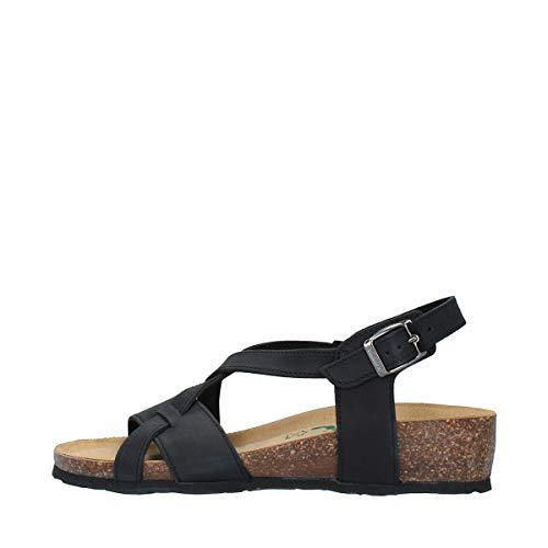 BioNatura Sandalo in Pelle Nabuk Nero MOD. 12A826 Nero 41