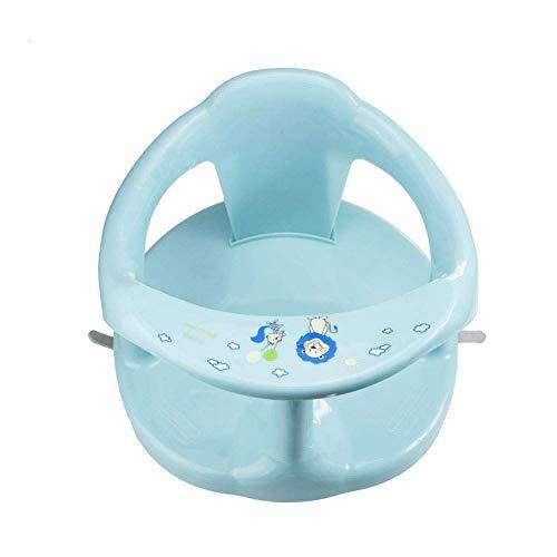 FENGLI Asiento de baño de plástico para bebés, asiento de ducha de bebé plegable con soporte de respaldo, silla antideslizante de la ducha de bebé con 4pcs de succión, asiento de baño multipropósito p
