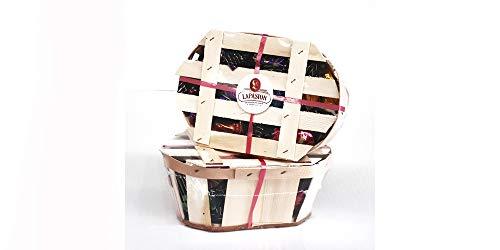 LAPASION - Fruta de Aragón bañadas en cobertura de chocolate CESTO 350g x 2