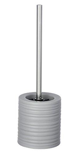 Wenko Mila - Escobillero de WC (cerámica, 12 x 39,5 cm), Color Gris
