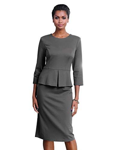 Alba Moda Damen Kleid Anthrazit 34 Kunstfaser