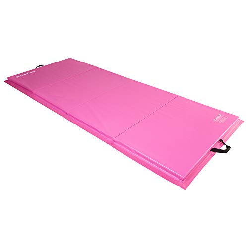 We Sell Mats 4 ft x 10 ft x 2 in Personal Fitness & Exercise Mat, Lightweight and Folds for Carrying, Pink