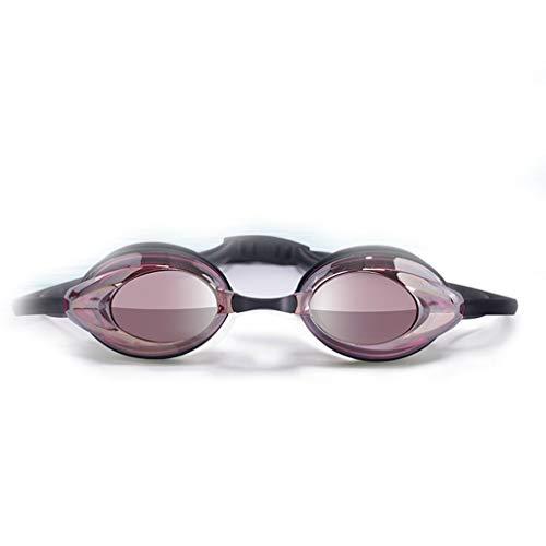 Eres el mejor Gafas de natación Impermeables Galvanoplastia De Alta definición Confort Ajustable Bandas de Silicona Adecuadas para el Ocio Fitness Adultos Antiniebla Gafas para Deportes acuáticos