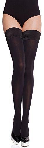 Merry Style Damen blickdichte halterlose Strümpfe MS 632 60 DEN (Schwarz, XS-S (32-38))