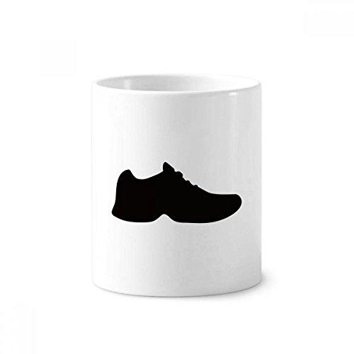 DIYthinker Heren Zwarte Sportschoenen Silhouette Patroon Keramische Tandenborstel Pen Houder Mok Wit Cup 350ml Gift 9,6 cm hoog x 8,2 cm diameter