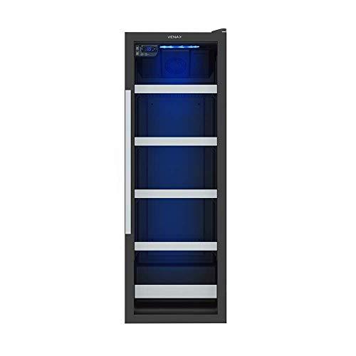 Cervejeira Blue Light 200L Preto 220V Porta De Vidro Venax