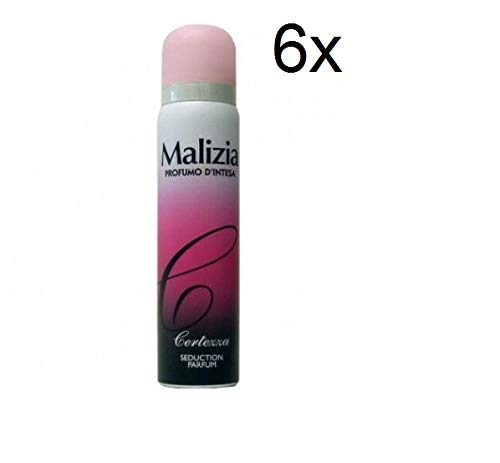 6x MALIZIA Donna Certezza deo 100 ml seduction Parfüm Deodorant Spray Frau