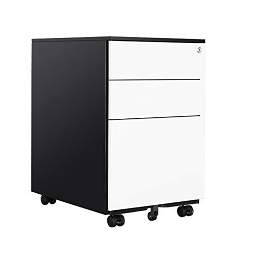 Aktenschrank, Abschließbarer Aktenschrank Mobiler Holzschrank Mit 3 Schubladen Und Aufbewahrungsbox Für Aktenordner Für Das Büro Zu Hause