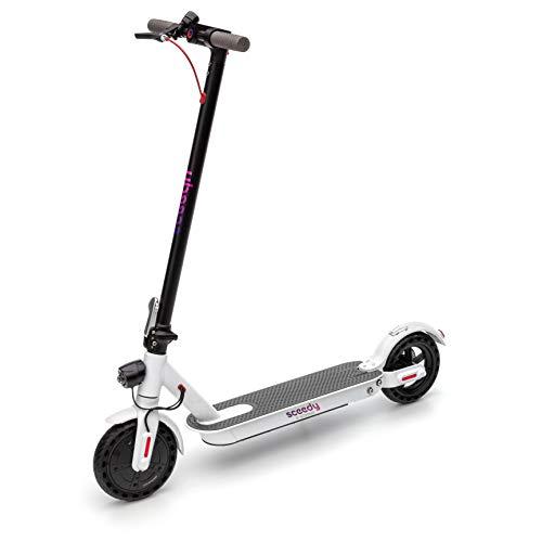 SCEEDY E-Scooter, Faltbarer 8,5 Zoll E Roller,250 W-Motor Elektro Scooter Erwachsene,dauerhaft Batterie 8 AH von Elektroroller zu Erwachsene und Studenten ,25 km Reichweite 20km/h (Weiss)