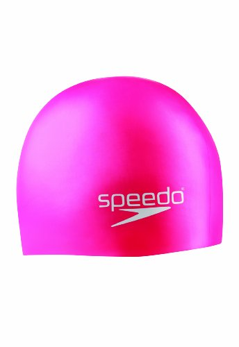 Speedo Unisex-Youth Swim Cap Silicone Junior Pink, One Size