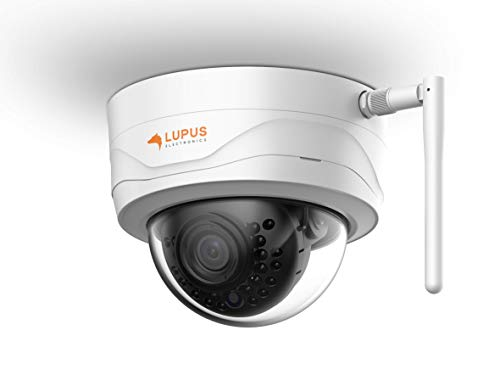 Lupus 3MP WLAN IP-camera voor buiten, SD-slot, 100°, nachtzicht, bewegingsdetectie, iOS en Android app, integreerbaar in Smarthome alarminstallaties, incl. managementsoftware Single zwart, wit