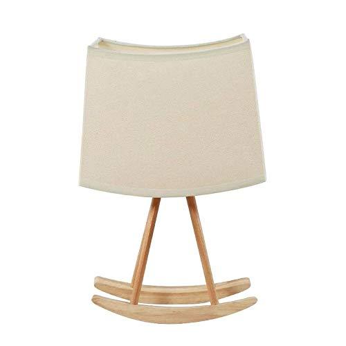Wotbxchbbtde Nordic madera lámpara de mesa, lámpara de mesa creativa oscilación, paño de pantalla, la lámpara flexible de la tabla, de atención oftálmica luces luz for leer, relajarse sueño, bajo cons