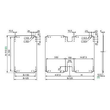 Schneider Electric NSYPMB157 Placa de Montaje Aislante de Baquelita para Armario PLA, Al 1500X An750mm