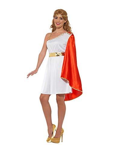 Smiffys 47378M Roman Lady Costume Römisches Damenkostüm, weiß/rot, M - UK Size 12-14