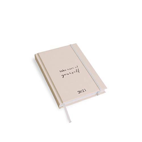 VISUAL STATEMENTS Terminplaner für 2021; verschiedene Größen- Terminkalender - mit Sprüchen; Hardcover Taschenkalender (take care of yourself 2021 A6)