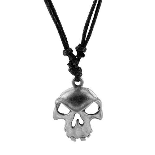 N/A Halloween Cosplay Halskette Geschenkspiel Sea of Thieves Themed Skull Skeleton Anhänger Seilkette Schmuck Cute Trinket
