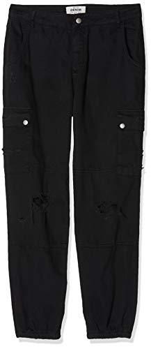 New Look Curves Malibu Cargo, Pantaloni Donna, Nero (Black 1), 38