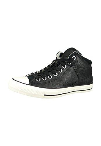 Converse Unisex-Erwachsene CTAS HIGH Street HI EGRET Hohe Sneaker, Schwarz (Black/Black), 43 EU