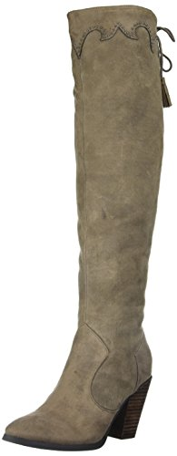 Report Women's Dilena Western Boot, Taupe, 7 M US