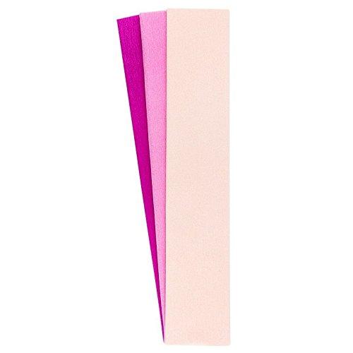 Krepp-Papiere, 50cm x 200cm, 3 Stück (lachs, pink, fuchsia)