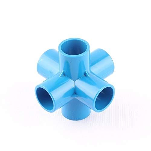 XINXI-YW Durable 10pcs 25mm 32mm de plástico de PVC de Seis (6) Tubo con la vía Conector Jardín de riego de riego Conjunto Adaptador de Accesorios de tubería de Agua