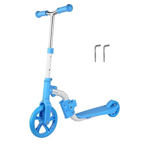FOLOSAFENAR Cubierta Antideslizante Lean to Steer Scooter para niños, Interior para niños al Aire Libre, Actividad grupal(Blue Toddler Scooter)