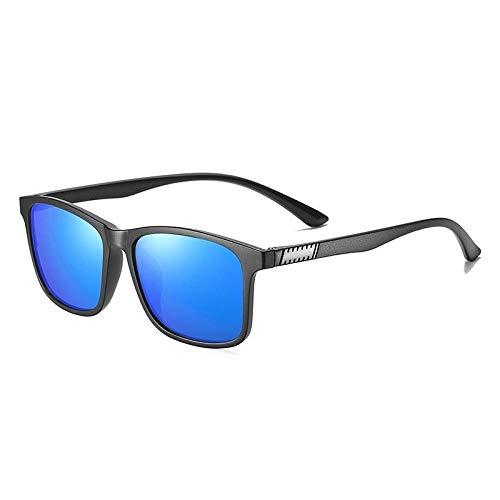 Gafas De Sol Hombre Mujeres Ciclismo Gafas De Sol Polarizadas para Hombre De Moda, Montura De Gafas Cuadradas, Espejo Clásico, Gafas De Sol De Conducción Vintage para Mujer, Azul