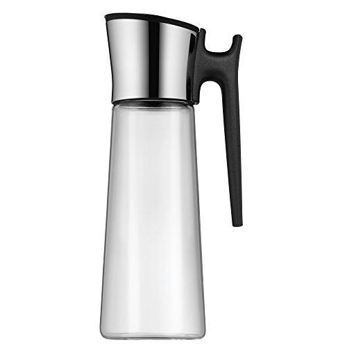 WMF Basic Wasserkaraffe 1,5 liter, Glaskaraffe mit Deckel und Griff 1,5l, Silikondeckel, CloseUp-Verschluss