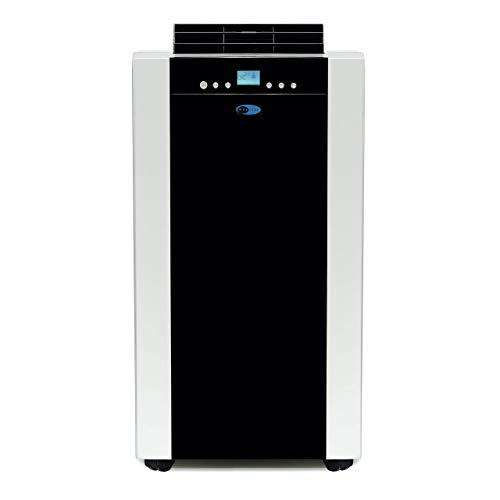 Whynter ARC-14SH 14,000 BTU Dual Hose Portable Air Conditioner, Dehumidifier, Fan & Heater with Activated Carbon Filter plus Storage bag, Platinum And Black|Black