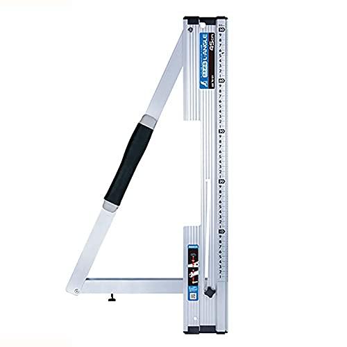 丸ノコガイド定規 たためるエルアングル 45cm メートル目盛 78101 定規 丸鋸ガイド シンワ測定 H