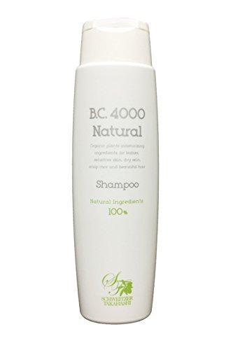 B.C.4000ナチュラル100%天然由来ノンシリコンシャンプーオーガニック植物エキス配合(250mL)