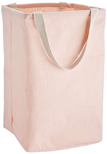 Amazon Basics – Canasto de tela, alto, cúbico, rosa apagado