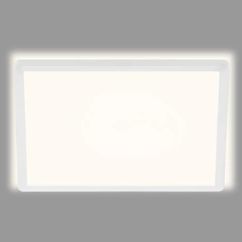 Briloner Leuchten LED Panel, Deckenleuchte, Deckenlampe, inkl. Hintergrundbeleuchtungseffekt, 22 Watt, 3.000 Lumen, 4.000 Kelvin, Weiß, Quadratisch, 42x42cm, W, 42x42 cm