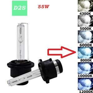 2X LAMPADE DI RICAMBIO XENON D2S 55W LUCE A 8000K