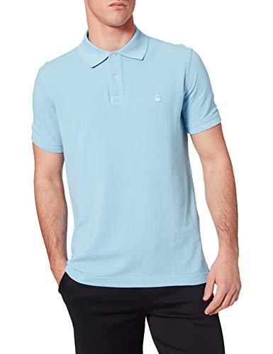 United Colors of Benetton Maglia Polo M 3089J3179 Camisa, Azul 29j, Hombre