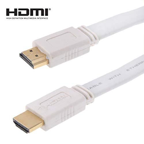 ILS platte kabel HDMI naar HDMI 19 pin 1.4, 1,5 m, ondersteunt HDTV / XBOX 360 / PS3 / projector / DVD-speler etc. (wit)