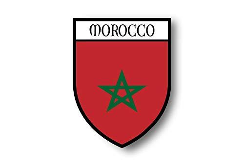 Akachafactory Aufkleber Sticker autoaufkleber Wappen Schild Flagge flaggen Fahne marokko