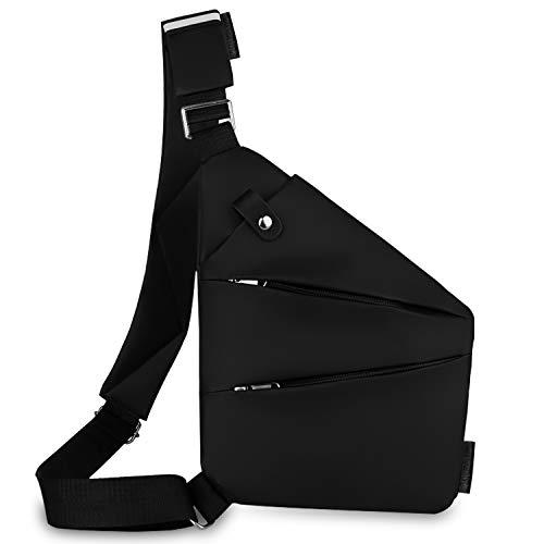 Lotisie Bandolera, cruzada al hombro, por el pecho o la espalda, mochila antirrobo, para hombre y mujer